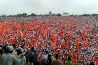 Over 20 Lakh Gathered For Maratha Rally In Pune