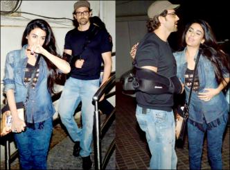 Hrithik Roshan spotted with a mystery lady